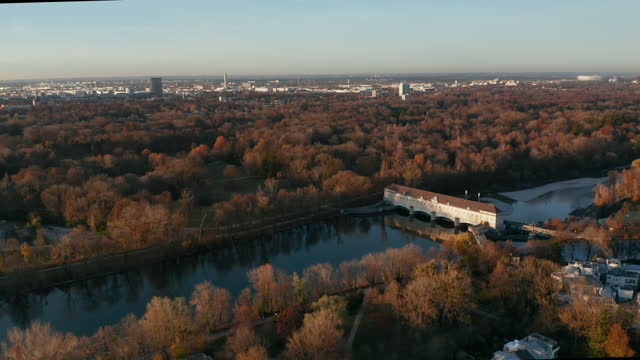 as tivoli hydroelectric power station in munich, germany - wop productions stock-videos und b-roll-filmmaterial