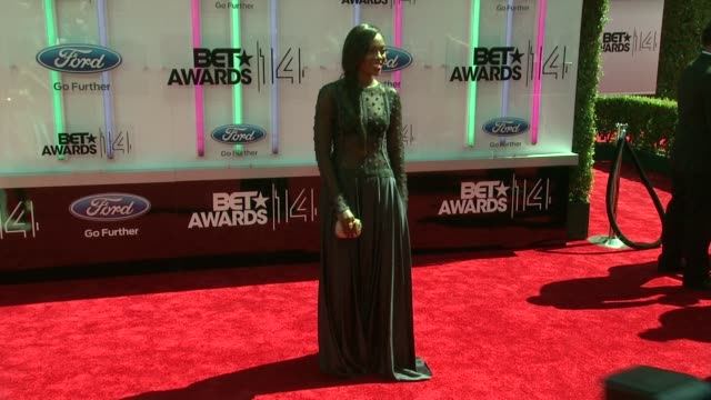 tiwa savage at the 2014 bet awards on june 29 2014 in los angeles california - bet awards stock videos and b-roll footage