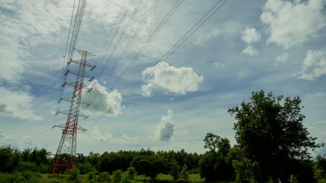 tl:high voltage pole - high voltage stock videos & royalty-free footage