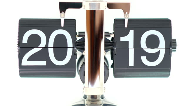 2019 to 2020 countdown flip board - 2019 stock videos & royalty-free footage