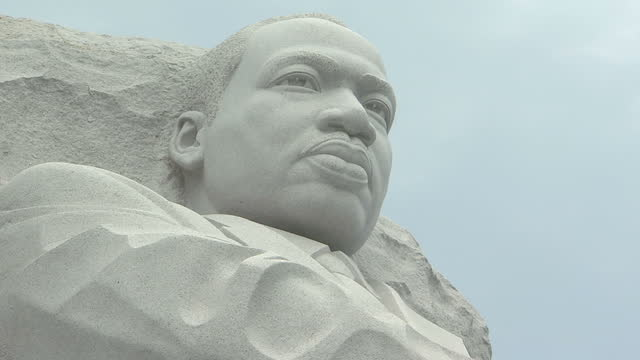 to america, where people across the country have been remembering martin luther king, and the four world-changing words he uttered exactly 50 years... - eve biblical figure video stock e b–roll