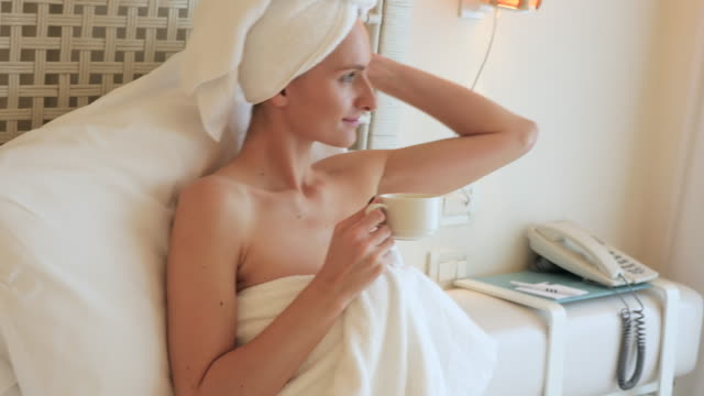 to be comfortable ! - wrapped in a towel stock videos & royalty-free footage