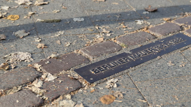 To commemorate the history of the Berlin Wall which divided Berlin from 1961 to 1989 a metal plate with the informationBerliner Mauer 19611989 is...