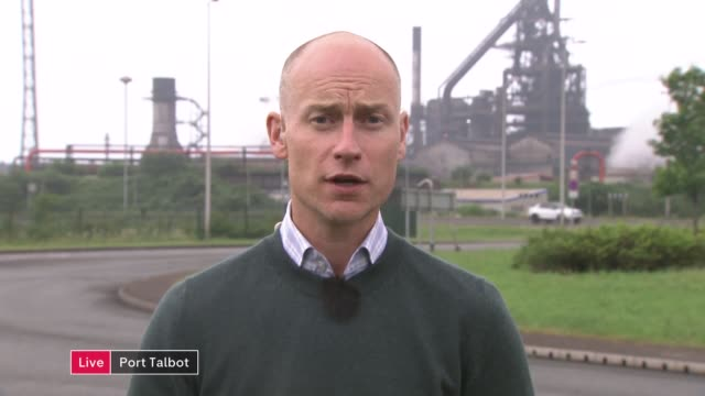 US to impose tariffs on steel imports prompting trade war worries ENGLAND London GIR Aberavon 2 WAY interview from Port Talbot SOT