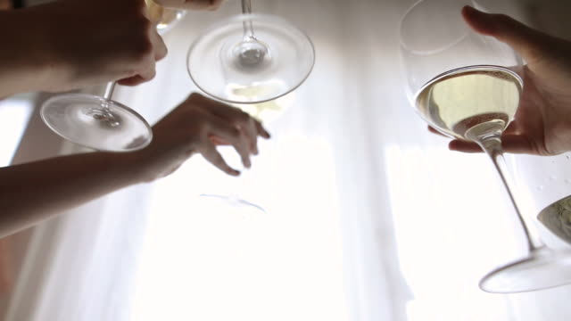to our friendship! - white wine stock videos & royalty-free footage