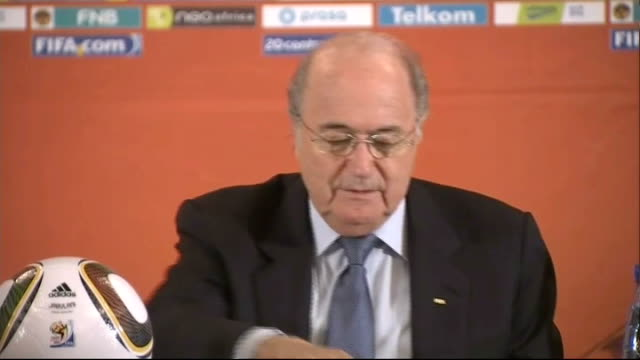 to re-think goal line technology; int sepp blatter at fifa press conference sepp blatter press conference sot - it is obvious that after the... - fifa stock videos & royalty-free footage