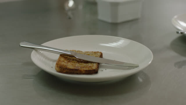 toast on plate - toasted bread stock videos & royalty-free footage