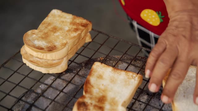 toast on the stove breakfast menu - toaster appliance stock videos & royalty-free footage