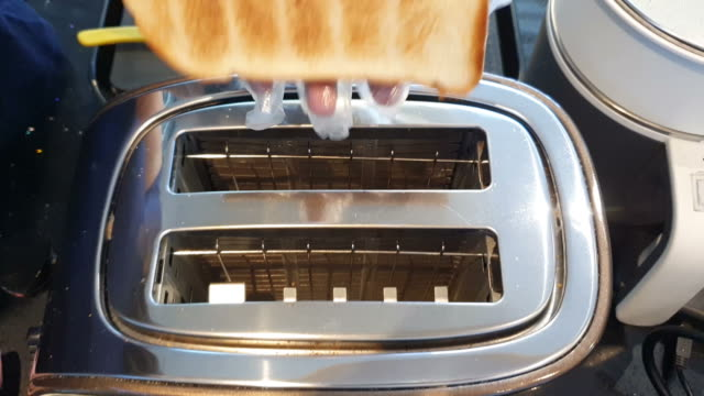 toast popping up from toaster - toaster appliance stock videos & royalty-free footage