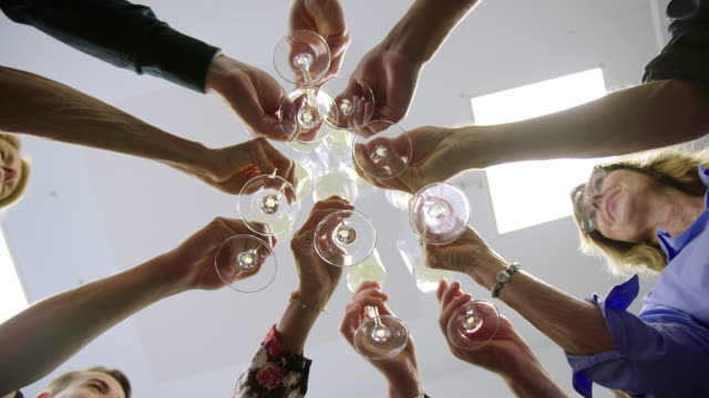 toast to success - celebratory toast stock videos & royalty-free footage