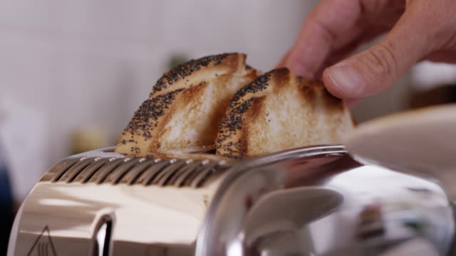 toaster close up - breakfast stock videos & royalty-free footage