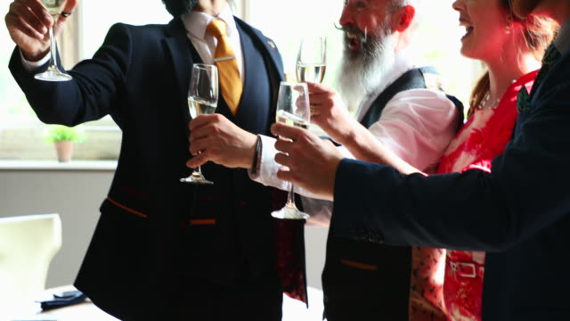 toasting the grooms - guest stock videos & royalty-free footage