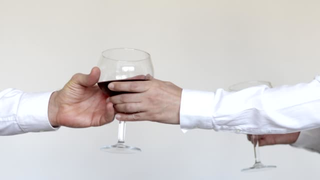 toasting with wine glass - viniculture stock videos & royalty-free footage