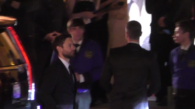 tobey maguire arrives to the vanity fair oscar award party at wallis annenberg center in beverly hills in celebrity sightings in los angeles - tobey maguire stock videos and b-roll footage