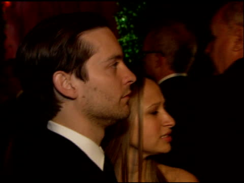 tobey maguire at the 2007 academy awards governor's ball at hollywood and highland in hollywood california on february 25 2007 - tobey maguire stock videos and b-roll footage