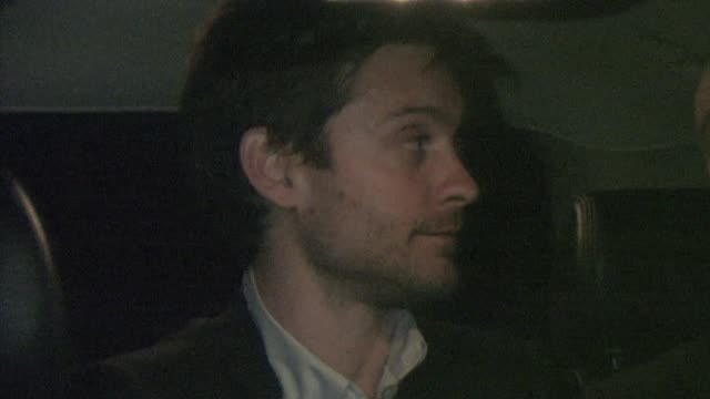tobey maguire at the buffalo club in santa monica at the celebrity sightings in los angeles at los angeles ca - tobey maguire stock videos and b-roll footage