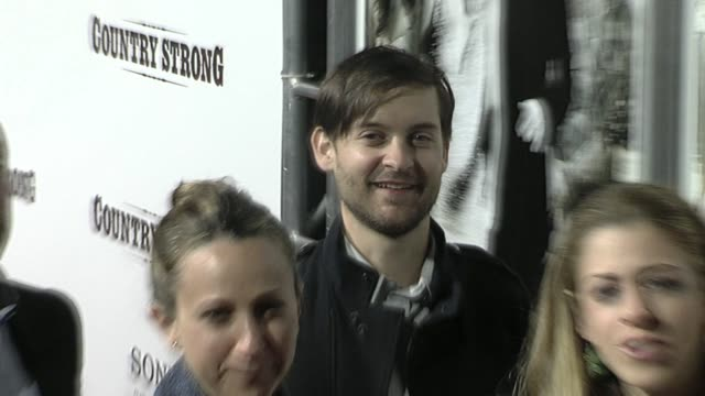 tobey maguire at the 'country strong' premiere at beverly hills ca - tobey maguire stock videos and b-roll footage