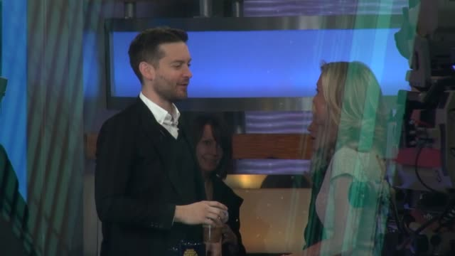 tobey maguire at the 'good morning america' studio tobey maguire at the 'good morning america' studio on april 29 2013 in new york new york - tobey maguire stock videos and b-roll footage