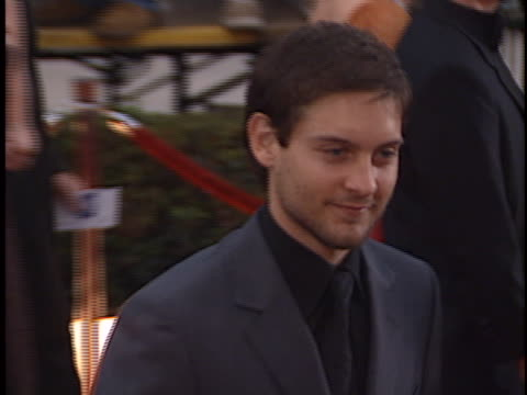 tobey maguire at the sag awards at shrine - tobey maguire stock videos and b-roll footage