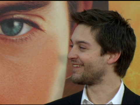 tobey maguire at the 'spider-man 2' los angeles premiere arrivals at the mann village theatre in westwood, california on june 22, 2004. - house spider stock videos & royalty-free footage