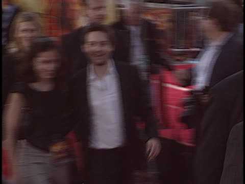 tobey maguire at the spiderman 2 premiere at westwood in westwood ca - tobey maguire stock videos and b-roll footage