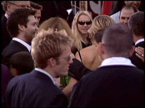 tobey maguire at the 'spiderman 2' premiere on june 22 2004 - tobey maguire stock videos and b-roll footage
