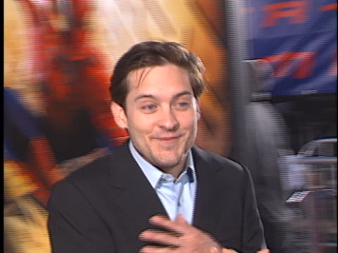 tobey maguire at the spiderman at westwood in westwood ca - tobey maguire stock videos and b-roll footage