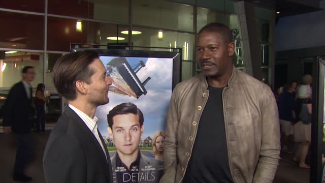 tobey maguire dennis haysbert at grey goose vodka hosts 'the details' premiere in hollywood 10/29/12 - grey goose vodka stock videos & royalty-free footage