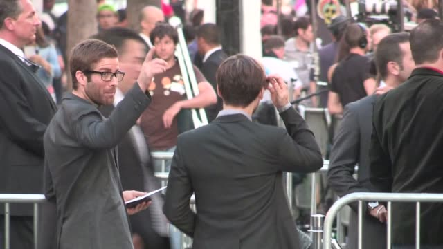 tobey maguire enters rock of ages premiere in hollywood at celebrity sightings in los angeles tobey maguire enters rock of ages premiere in holl on... - tobey maguire stock videos and b-roll footage