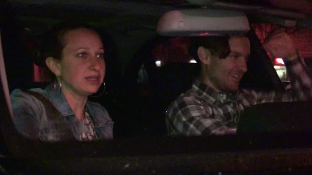 tobey maguire jennifer meyer leaving dan tana's in hollywood 03/05/12 - tobey maguire stock videos and b-roll footage