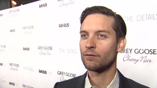 tobey maguire on his character what attracted him to this role and battling rodents at grey goose vodka hosts 'the details' premiere in hollywood... - tobey maguire stock videos and b-roll footage