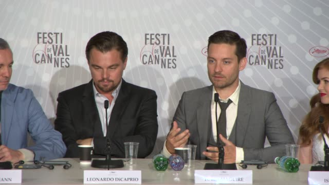 interview tobey maguire on working with leonardo dicaprio their relationship together arguing about their interpretation of their characters at the... - tobey maguire stock videos and b-roll footage