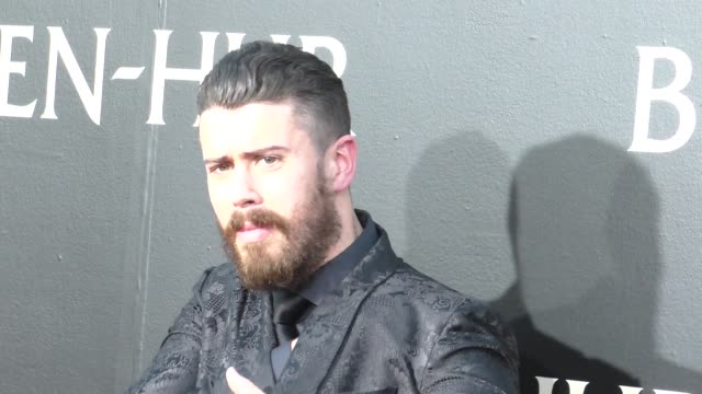 toby kebbell at the premiere of paramount pictures' benhur at tcl chinese theatre in celebrity sightings in los angeles - paramount pictures stock videos and b-roll footage