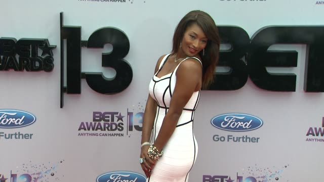 toccara jones at bet 2013 awards - arrivals on 6/30/13 in los angeles, ca . - bet awards bildbanksvideor och videomaterial från bakom kulisserna