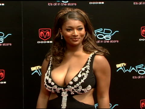 toccara jones at the 2006 bet awards arrivals at the shrine auditorium in los angeles california on june 27 2006 - black entertainment television stock videos & royalty-free footage
