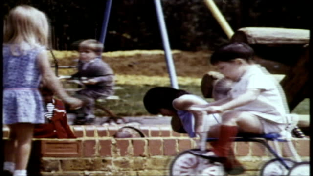 today's children have less freedom to play 1976 children playing in hot summer sunshine dissolve to - 1976 stock videos & royalty-free footage