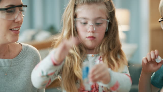 today's home lesson is all about science - chemistry stock videos & royalty-free footage