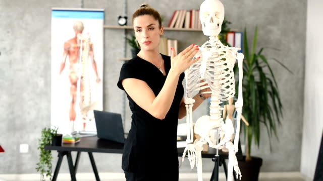 today's lession is about human thorax - physical therapist stock videos & royalty-free footage