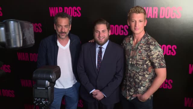Todd Phillips Jonah Hill Miles Teller at 'War Dogs' New York Premiere Arrivals at Metrograph on August 3 2016 in New York City