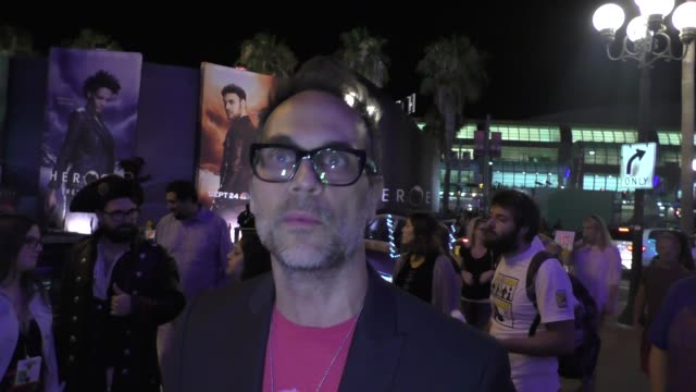 Todd Stashwick talks about Heroes Reborn at Comic Con in San Diego in Celebrity Sightings at Comic Con