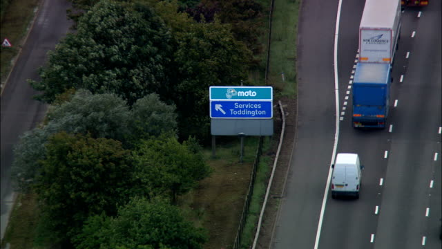 Toddington Services On the M1  - Aerial View - England, Central Bedfordshire, United Kingdom