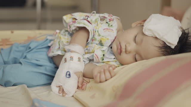 toddler boy's hand with saline solution - 12 23 months stock videos & royalty-free footage