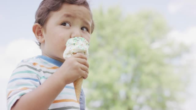 Toddler Eating Ice Cream