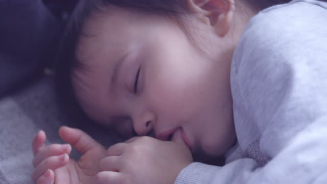toddler girl sleeping - northern european stock videos & royalty-free footage