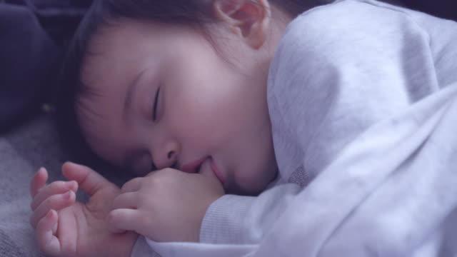 toddler girl sleeping - sleeping stock videos & royalty-free footage