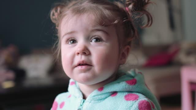 vídeos de stock, filmes e b-roll de toddler in fancy dress costume - vida de bebê