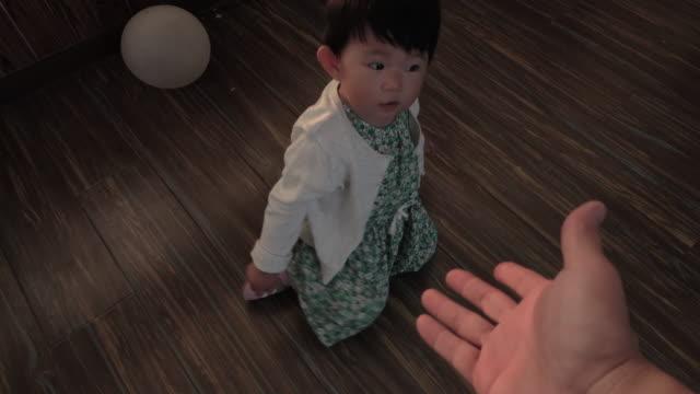 toddler learning walking - crawling stock videos & royalty-free footage