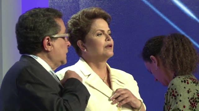 todo indica que el proximo domingo los brasilenos optaran por la continuidad de dilma rousseff que segun las encuestas deja atras a la ecologista... - afp stock videos & royalty-free footage