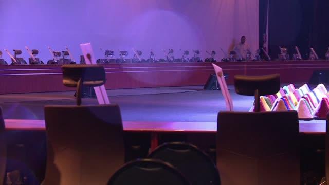 vídeos y material grabado en eventos de stock de todo listo en santa cruz para la cumbre del g77china que se celebrara el fin de semana y en la que se discutiran los objetivos de desarrollo del... - semana santa