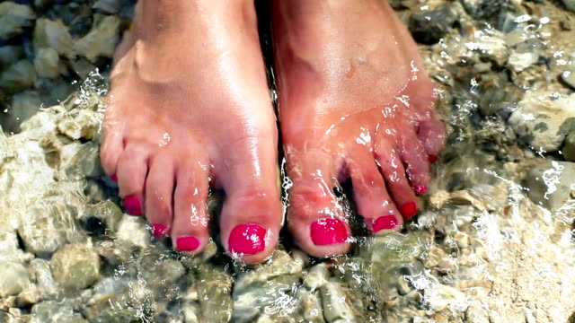 hd: toenails in the water - pedicure stock videos & royalty-free footage